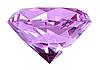 Фото 300 DPI: Фиолетовый кристалл алмаза
