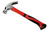 Фото 300 DPI: металлический молоток с красно-черной рукояткой