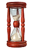 Photo 300 DPI: Old-fashioned sand-hourglass