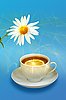 Lemon-tea and white flower | Stock Foto