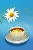 Lemon-tea i biały kwiat | Stock Foto