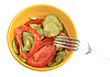 Salad from fresh cucumbers and tomatoes | Stock Foto
