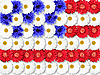 Photo 300 DPI: Background of flowers as USA flag
