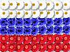 ID 3032947 | Фон из цветов в виде флага России | Фото большого размера | CLIPARTO