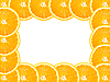 ID 3032950 | Rahmen aus Apfelsine-Scheiben | Foto mit hoher Auflösung | CLIPARTO