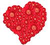ID 3032956 | Bukiet kwiatów czerwonych w sercu | Foto stockowe wysokiej rozdzielczości | KLIPARTO