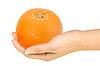 ID 3032971 | Orange in hand | Foto stockowe wysokiej rozdzielczości | KLIPARTO