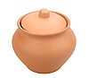 Single closed ceramic pot | Stock Foto