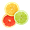 Slices of citrus fruits | Stock Foto