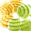 Citrus fruits under water | Stock Foto