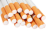 Photo 300 DPI: Heap of cigarettes with filter