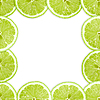 Frame with lime slices | Stock Foto