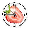 Red strawberry as clock | Stock Foto
