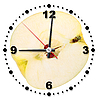 Slice of yellow apple as clock | Stock Foto