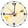Plasterek żółtego jabłko jako zegar | Stock Foto