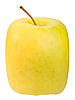 Photo 300 DPI: square yellow apple