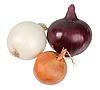 Three fresh onions | Stock Foto