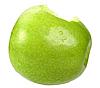 Ugryziony zielone jabłko | Stock Foto
