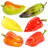 Six sweet fresh peppers | Stock Foto