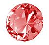 Red crystal diamond | Stock Foto