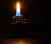 Photo 300 DPI: Lighting flame in darkness