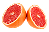 Two slices of grapefruit   Stock Foto