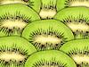 Zielone tło z plasterki kiwi | Stock Foto