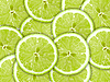 Green background of lime slices | Stock Foto