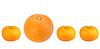 Orange and tangerines in row | Stock Foto