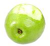 Bitten green apple | Stock Foto