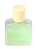 Green cosmetic cream in transparent bottle | Stock Foto