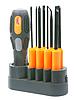 Set of orange screwdrivers | Stock Foto