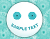 Photo 300 DPI: Greeting card with white-blue smiley