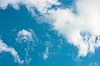 White clouds and blue sky | Stock Foto