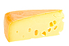 Photo 300 DPI: Sector part of yellow cheese