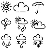 Set of symbols for the indication of weather