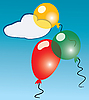 Vector clipart: Three air balloons