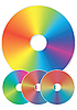 Vector clipart: Compact disks with rainbow reflections