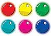 Vector clipart: Set of colored circle labels for design
