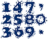 Vector clipart: digits symbols as blots
