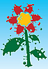 Vector clipart: Flower as blot