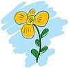 Vector clipart: yelllow flower