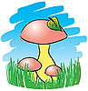 Vector clipart: Three mushrooms