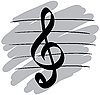 Vector clipart: Stylized music symbol