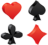 Vector clipart: 3d game cards symbols