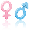 3d male and female symbols | Stock Vector Graphics