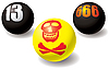 Vector clipart: evil set of balls