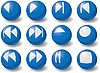 Vector clipart: Set of multimedia navigation icons