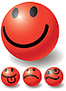 Vector clipart: Set of four smileys-balls