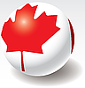 Vector clipart: Canada flag on ball